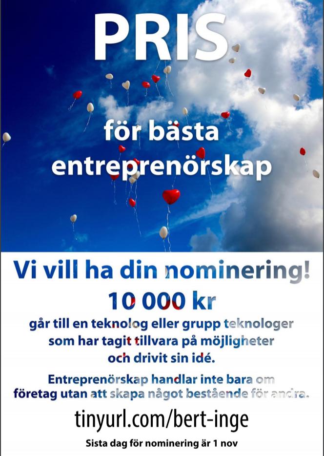 Pris för bästa entreprenörskap